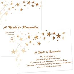 "Star Dance 4"" x 6""  Invitation"