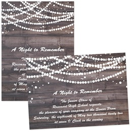 "Rustic Glam 4"" x 6""  Invitation"