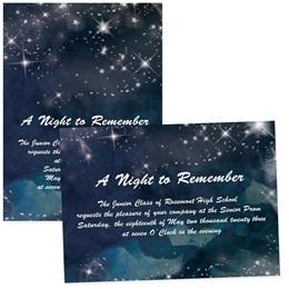"Night Sky Sparkle 4"" x 6""  Invitation"
