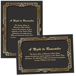 "Art Deco Frame 4"" x 6"" Invitation"