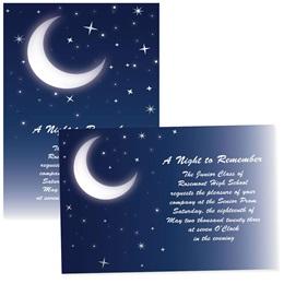 "Moonlit Night 4"" x 6"" Invitation"