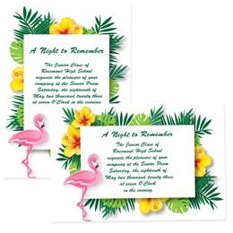 "Flamingo Tropic 4"" x 6"" Invitation"
