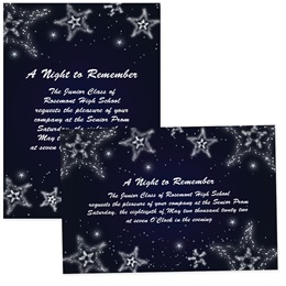 "Star Constellations 4"" x 6"" Invitation"