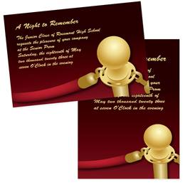 """Hollywood Red Rope 4"""" x 6"""" Invitation"""