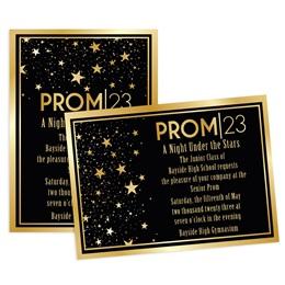 Gold Star Glam 4x6 Invitation