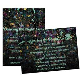 Holographic Confetti 4x6 Invitation