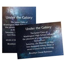 Glitter Galaxy 4x6 Invitation