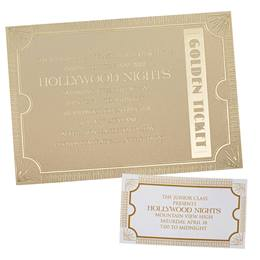 Invitation and Ticket Set - Golden Ticket