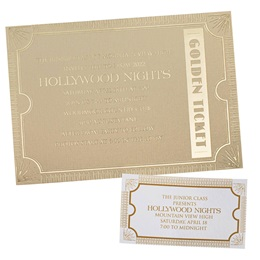Invitation and Ticket Set - Golden Ticket