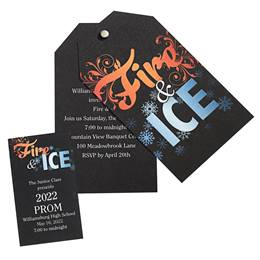 Invitation and Ticket Set - Fire & Ice