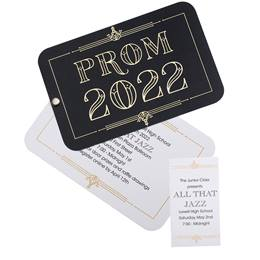 Invitation and Ticket Set - Art Deco Prom