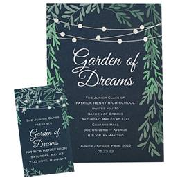 Invitation and Ticket Set - Lighted Garden