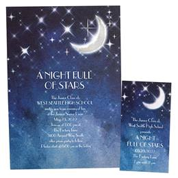 Foil Invitation and Ticket Set - New Moon