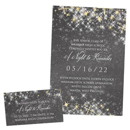 Foil Invitation and Ticket Set - Gray Twinkle
