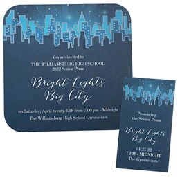 Invitation and Ticket Set - Sapphire Cityscape