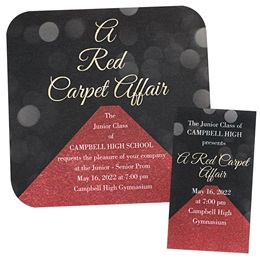 Invitation and Ticket Set - A-List Red Carpet