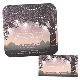 Invitation and Ticket Set - Starry Twilight