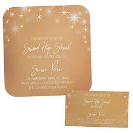 Foil Invitation and Ticket Set - StarGlow