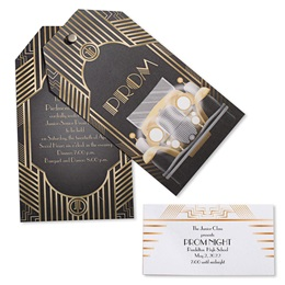 Invitation and Ticket Set - Gatsby Art Deco