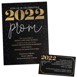 2020 Prom Luxury Invitation and Ticket Set