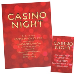 Casino Night Luxury Invitation and Ticket Set