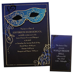 Sapphire Blue Luxury Invitation and Ticket Set