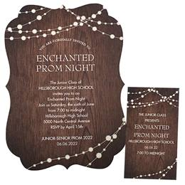 Invitation and Ticket Set - Wood & Lights