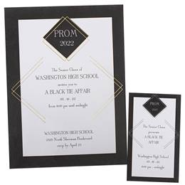 Foil Invitation and Ticket Set -Gold Diamond Stripes