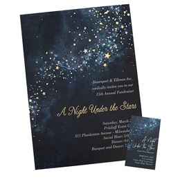 Midnight Galaxy Luxury Foil Invitation/Ticket Set