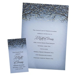 Invitation and Ticket Set - Twinkle Tree