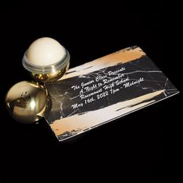Ticket and Metallic Lip Balm Favor set