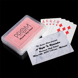 Ticket and Playing Cards in Case Favor Set