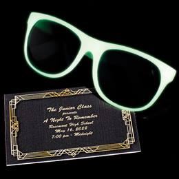 Ticket and Glow Sunglasses Favor Set