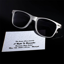 Ticket and Sunglasses Favor Set