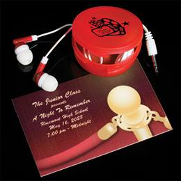 Ticket and Earbuds Favor Set