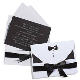 Black Formal Romance Invitation - Unassembled