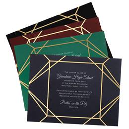 Golden Line Deco Invitation