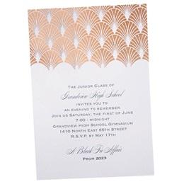 Rose Gold Scallops Invitation