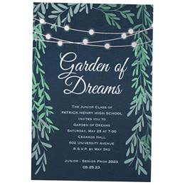 Lighted Garden Invitation