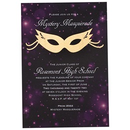 Starlit Masquerade Invitation