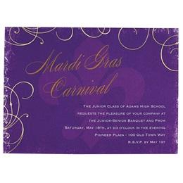 Purple Fleur de Lis Invitation