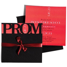 Red Prom Perfection Invitation