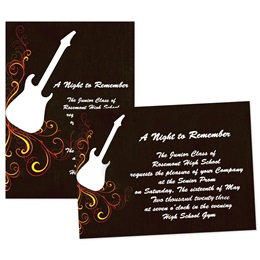 "5"" x 7"" Invitation - Rock 'n' Roll Scrolls"