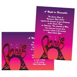 "5"" x 7"" Postcard From Paris Invitation"