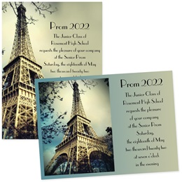 "5"" x 7"" Invitation - Eiffel Tower"