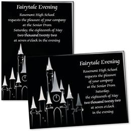 "5"" x 7"" Invitation - Enchanted Castle"
