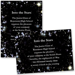 "5"" x 7"" Invitation - Sky Sparkle"