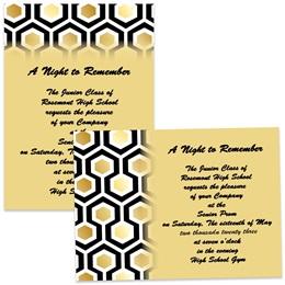 "5"" x 7"" Invitation - Honeycomb"