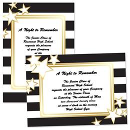 """5"""" x 7"""" Invitation - Black and White Stripes"""