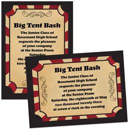 "5"" x 7"" Invitation - Vintage Circus"
